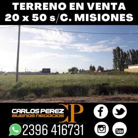LOTE DE TERRENO DE 20 X 50 MTS.